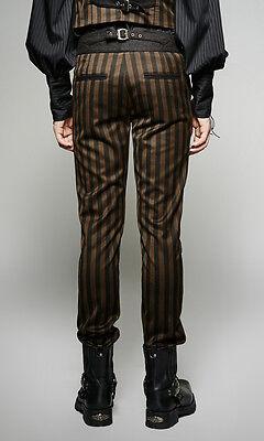Dandy Gothique Costume Victorien Steampunk Pantalon Rayures Neo 1w0HPHUq