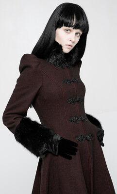 Manteau gothique lolita russe victorien broderie fourrure