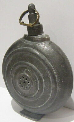 Extremely Rare Post Medieval Antique Pewter Flask-Bottle # 738 6