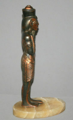 Vintage Hand Made Egyptian Pharaoh Metal Copper Plated Figurine Statuette 6