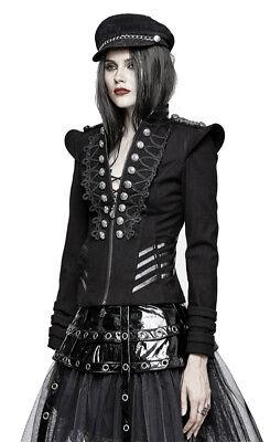 Veste officier gothique lolita militaire broderie galons armure fashion PunkRave