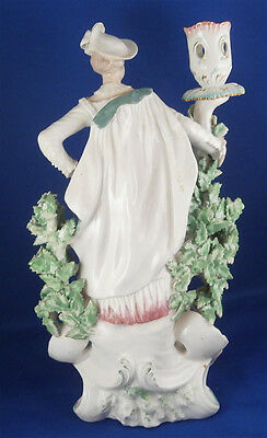 Antique 18thC Derby Porcelain Figural Lady Candlestick Porzellan Kerzenhalter 8