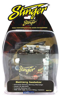 sgp32 stinger pro 200 amp car audio relay battery isolator water sgp32 stinger pro 200 amp car audio relay battery isolator water resistant new 2