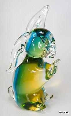 Vintage Murano Sommerso Art Glass Bunny Rabbit Figurine Sculpture 8
