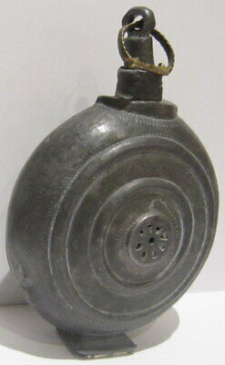 Extremely Rare Post Medieval Antique Pewter Flask-Bottle # 738 5