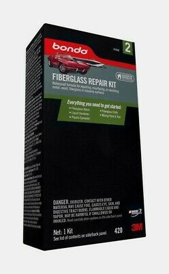 Bondo Auto Body FIBERGLASS REPAIR KIT Metal Wood Fiberglass Masonry 420 NEW!! 2