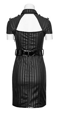 Robe gothique punk lolita pin-up militaire sexy cuir rayures burlesque PunkRave 11
