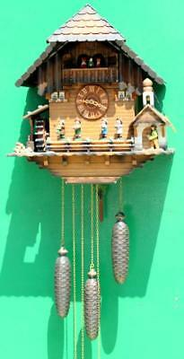 Three Weight Black Forest Musical Cuckoo Clock 11