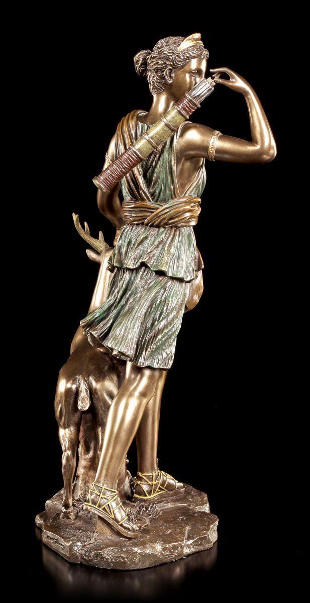 Frauenfigur Skulptur Diana Göttin Artemis Veronese sign Figur antike Mythologie