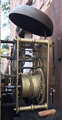 Antique 8 Day Mahogany Longcase Grandfather Clock J. BEECROFT LITTLE LEIGH 11