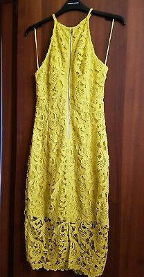 differently 52bb5 8e966 VESTITO GUESS DONNA abito tg XS pizzo giallo indossato 1 volta