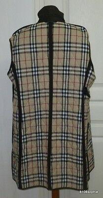 1 sur 11Livraison gratuite BURBERRY Manteau matelassé marron intérieur  tartan 44 XL quilted coat c07b76fc5b17