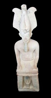 Hieroglyphic Osiris Figurine Statue Egyptian Antique Ancient Stone Sculpture 5