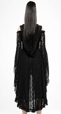Brautkleid Spitze Schleppe Kleid Gothic Hexe Party Korsett Kapuze Flott PunkRave