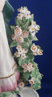 Antique 18thC Derby Porcelain Figural Lady Candlestick Porzellan Kerzenhalter 5