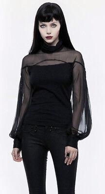 Top haut gothique lolita baroque manche bouffante voilage lacé fashion PunkRave 4