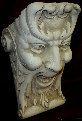 Laughing Face Wall Corbel Bracket Shelf Architectural Accent Home Decor 2