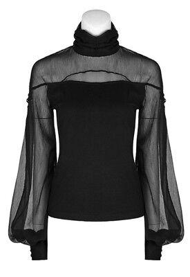 Top haut gothique lolita baroque manche bouffante voilage lacé fashion PunkRave 7
