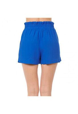 Women's Woven Paperbag High Waist Shorts Tie Belt Pockets Casual Solid Basics 9