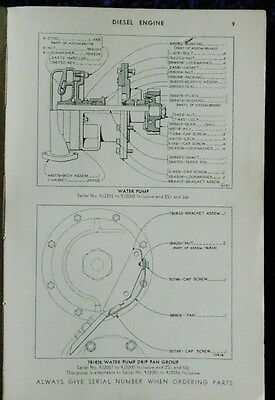 1947 CAT CATERPILLAR D8800 Engine & Diesel Electric Set Parts Catalog