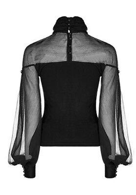 Top haut gothique lolita baroque manche bouffante voilage lacé fashion PunkRave 9