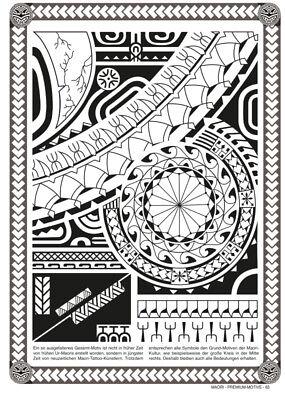 maori polynesische tattoo vorlagen flashbook sketchbook. Black Bedroom Furniture Sets. Home Design Ideas