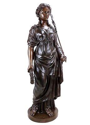 Griega Mitología Estatua de Bronce - Hygieia Diosa de la Salud- Limitada 9