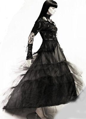 ab941b9b90f7 ... Jupe jupon long gothique baroque mariage princesse traîne tulle  cerceaux ruban 2