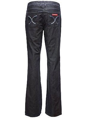 Women Long Pants Plus Size Relaxed Bootcut Jeans Trousers Straight Leg