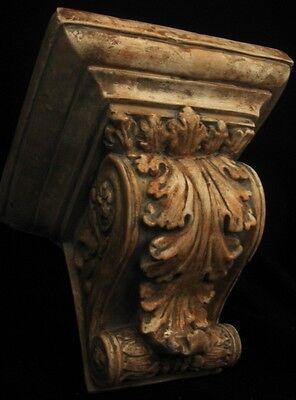Huge Acanthus Leaf Greek Roman Sconce Art Bracket 4
