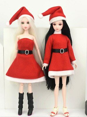 Handmade Merry Christmas Outfit For Blythe Doll Dress Hat Clothes For 1/6 doll 6