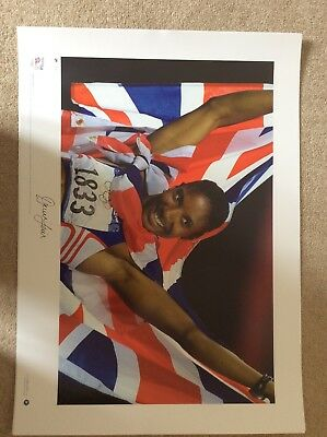 signed Team GB Olympic Gold Prints - complete set of 7 5