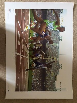 signed Team GB Olympic Gold Prints - complete set of 7 7