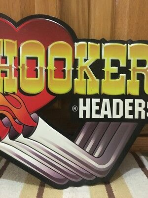 Hooker Headers Hot Rod Garage Metal Gas Pump Coupe Rat Rod Oil Can Ford Chevy 3