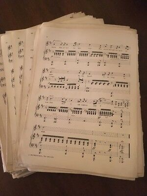 100g Vintage Sheet Music Paper WITH PENCIL MARKS ON Decoupage, SHABBYCHIC A4 Ish 3