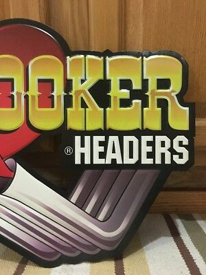 Hooker Headers Hot Rod Garage Metal Gas Pump Coupe Rat Rod Oil Can Ford Chevy 4