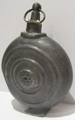 Extremely Rare Post Medieval Antique Pewter Flask-Bottle # 738 3