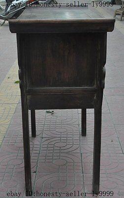 "44"" old chinese Antique Furniture Hand-carved huanghuali wood flower Tables Desk 8"
