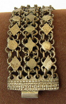ANTIQUE 1800 s. SILVER KNITTED THREE ROWS LADY BRACELET  #  75A