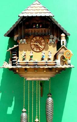 Three Weight Black Forest Musical Cuckoo Clock 10