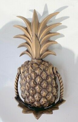large heavy PINEAPPLE frount Door Knocker SOLID  BRASS old style house banger B 5