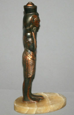 Vintage Hand Made Egyptian Pharaoh Metal Copper Plated Figurine Statuette 7