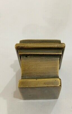 4 sabot square small solid Brass foot castors chair table old style 19 mm cup B 2