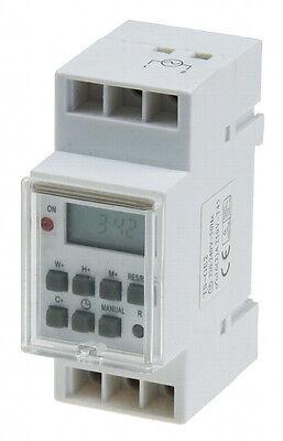Zeitschaltuhr, Schalttafel-Einbau 230V/16A Hutschiene 3500W digitale 3
