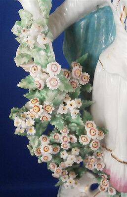 Antique 18thC Derby Porcelain Figural Lady Candlestick Porzellan Kerzenhalter 4