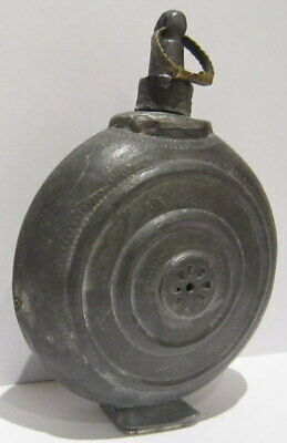 Extremely Rare Post Medieval Antique Pewter Flask-Bottle # 738 2