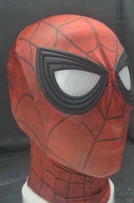 Natural Latex Red Spiderman Mask Props Cosplay Halloween Mask LJ223