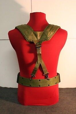 US Military Alice Y SUSPENDERS LBE Load Bearing Shoulder Web Harness OD Fair 6