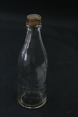 alte dekorative Glasflasche Milchgenossenschaft Pirna MIGENO Glas Flasche 10