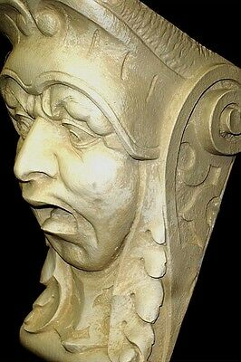 Horror Face Wall Corbel Bracket Shelf Architectural Accent Home Decor 2